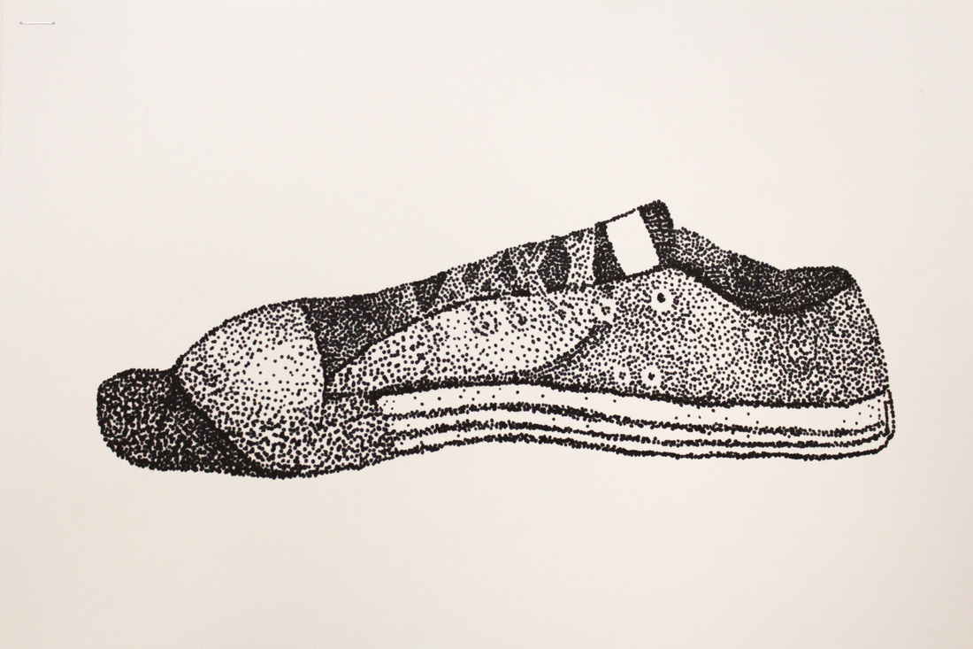 Stippled Shoes South Central High School Visual Art